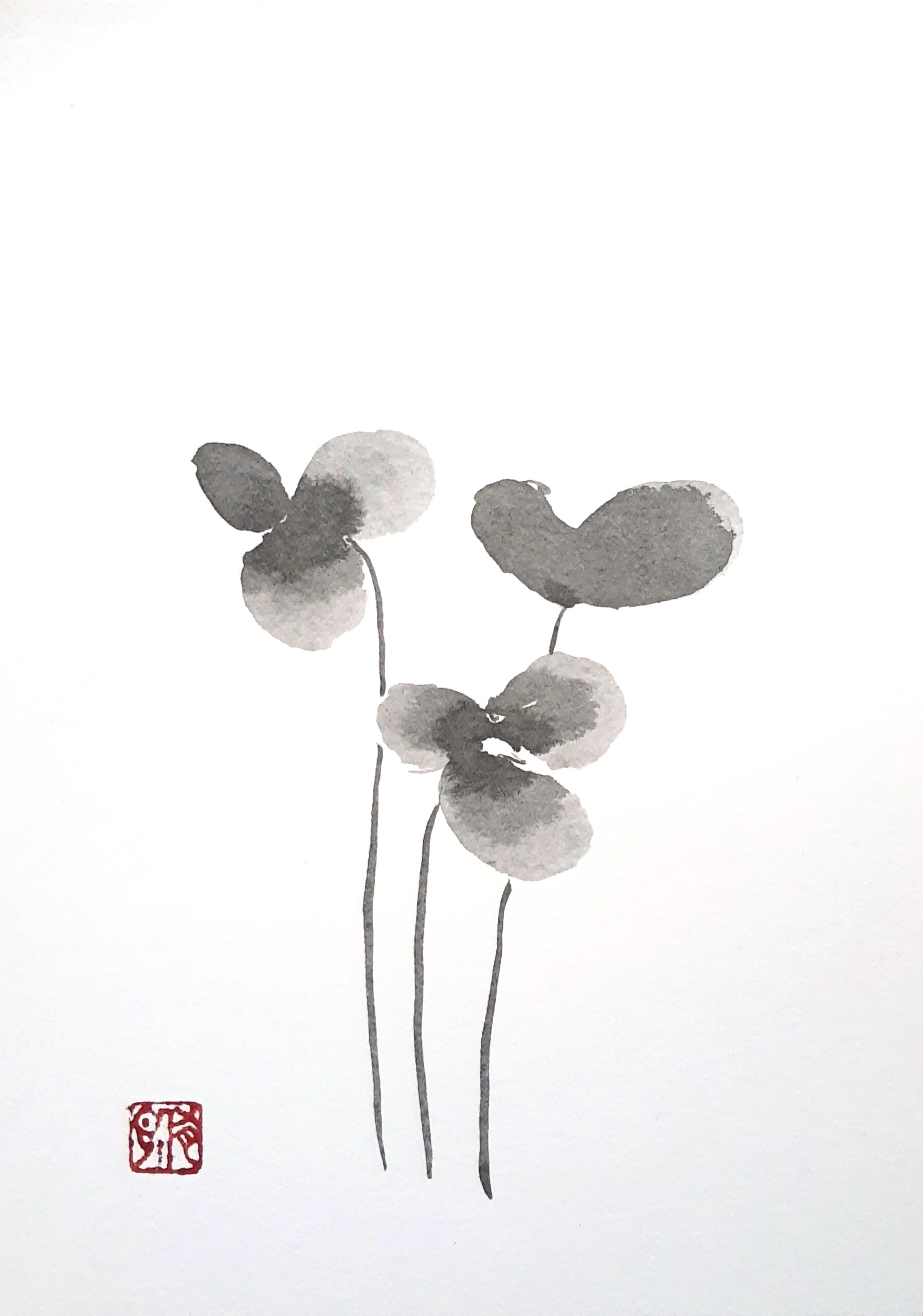 Sumie 3 Flowers